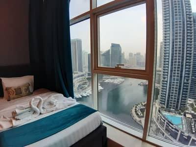 2 Bedroom Flat for Rent in Dubai Marina, Dubai - Marina View   Fully Furnished