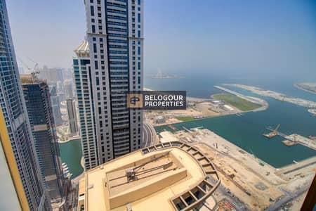 بنتهاوس 4 غرف نوم للايجار في دبي مارينا، دبي - Fully Furnished   High floor   Sea Views   Luxurious Penthouse