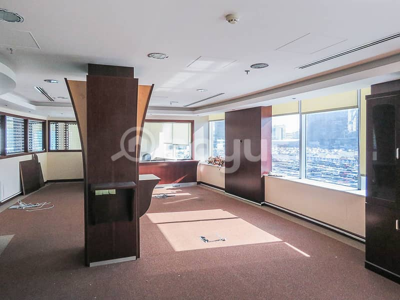 Nicely Partitioned Offices, Meeting Room, Reception Desk and Having a nice View