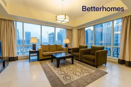 شقة فندقية 3 غرف نوم للايجار في دبي مارينا، دبي - All Bills Included| Fully Serviced| Fully Equipped
