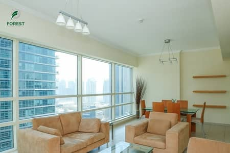 2 Bedroom Flat for Rent in Dubai Marina, Dubai - Fully Furnished |Partial Marina View | High Floor