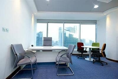 Independent Furnished Office With Free Dewa and Free internet / 4 and 6 Cheques Payment /No Deposit / No Commission
