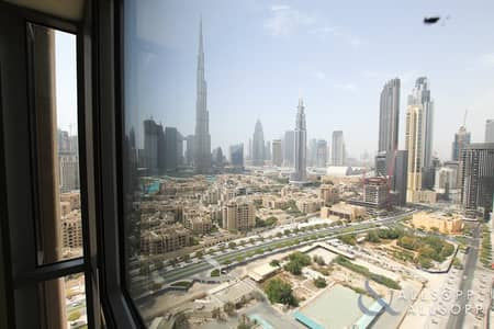 2 Bedroom Apartment for Sale in Downtown Dubai, Dubai - Vacant | Two Bed | High Floor | Burj View