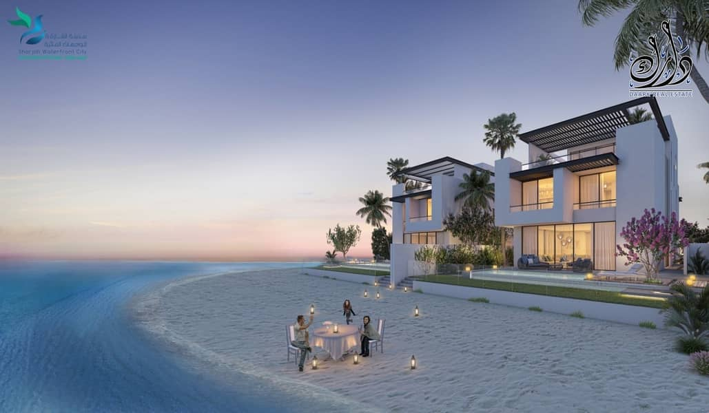 Breath taking 04 bedroom beach villa at Sharjah Waterfront City