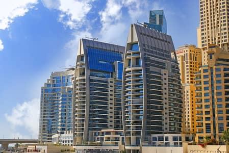 شقة 2 غرفة نوم للايجار في دبي مارينا، دبي - Dubai Marina - Low Floor - Spacious