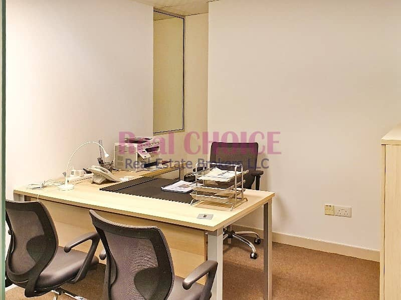 15 Furnished Office W/ 3 Partitions|Near To Metro