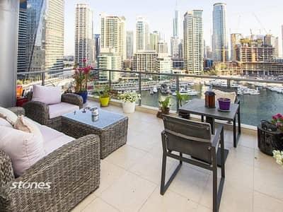 فلیٹ 3 غرف نوم للبيع في دبي مارينا، دبي - Spectacular Marina Views with Spacious Balcony