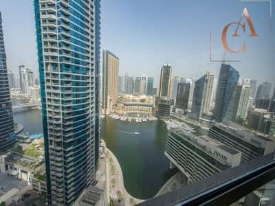 1 Bedroom Apartment for Rent in Jumeirah Beach Residence (JBR), Dubai - Marina View | High Floor | Vacant Now