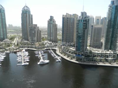 1 Bedroom Flat for Rent in Dubai Marina, Dubai - 6 cheques - Full Marina View - Chiller Free