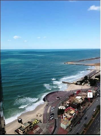 2 Bedroom Flat for Rent in Corniche Ajman, Ajman - CHILLER FREE: BRAND NEW SEA VIEW 2 BEDROOMS HALL