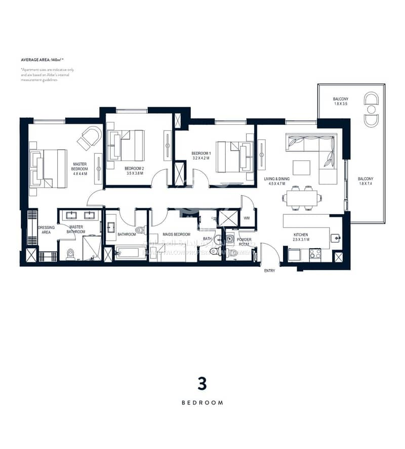 9 Upcoming 3 Bedroom Apartment in Prime Location