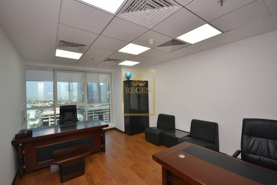 2 Furnished & Fully Serviced Office in Business Center For Rent