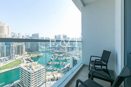 Studio for Sale in Dubai Marina, Dubai - Breathtaking Full Marina View   Furnished