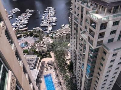 شقة 1 غرفة نوم للايجار في دبي مارينا، دبي - Furnished 1BR+Study | Partial Marina View