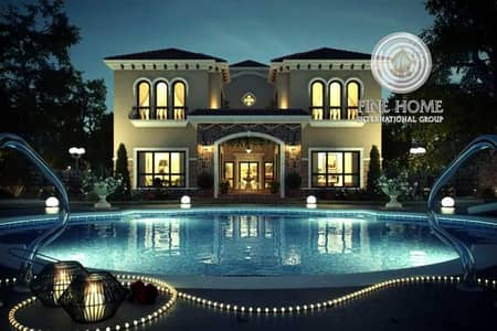 6 Bedroom Villa for Sale in Khalifa City A, Abu Dhabi - #For_Sale VIP Villa with Gym &Sauna&Pool & Jacuzzi