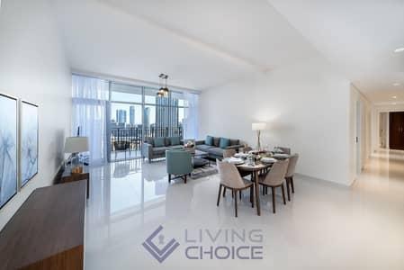 3 Bedroom Flat for Rent in Downtown Dubai, Dubai - Fully Furnished | Partial Burj Khalifa View