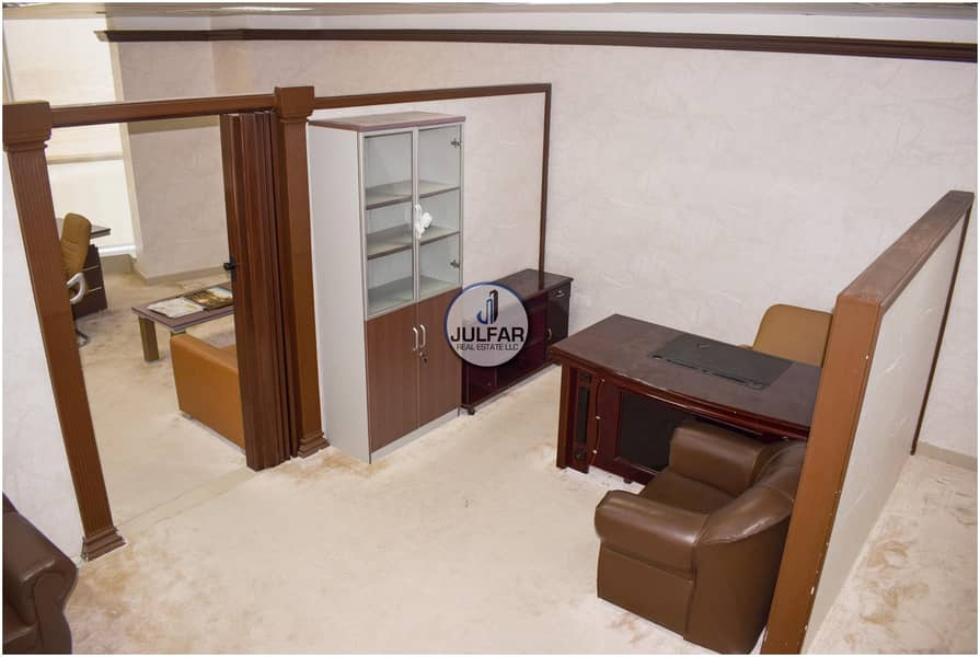 13 Furnished Office| For RENT Julphar Tower| SEA VIEW