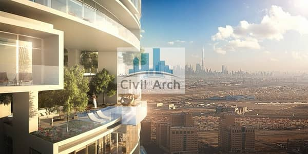 4 Bedroom Penthouse for Sale in Jumeirah Village Circle (JVC), Dubai - Magnifying views of Dubai in 4br PH+Pool