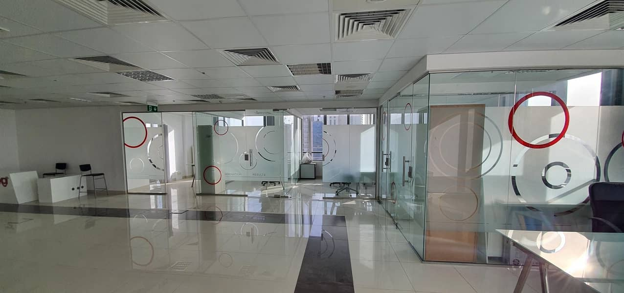 Fitted with partition office for rent in Prime Bus Center at JVC