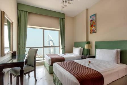 2 Bedroom Hotel Apartment for Rent in Al Barsha, Dubai - Burj Al Arab View I Easy Metro Access   All Bills Included