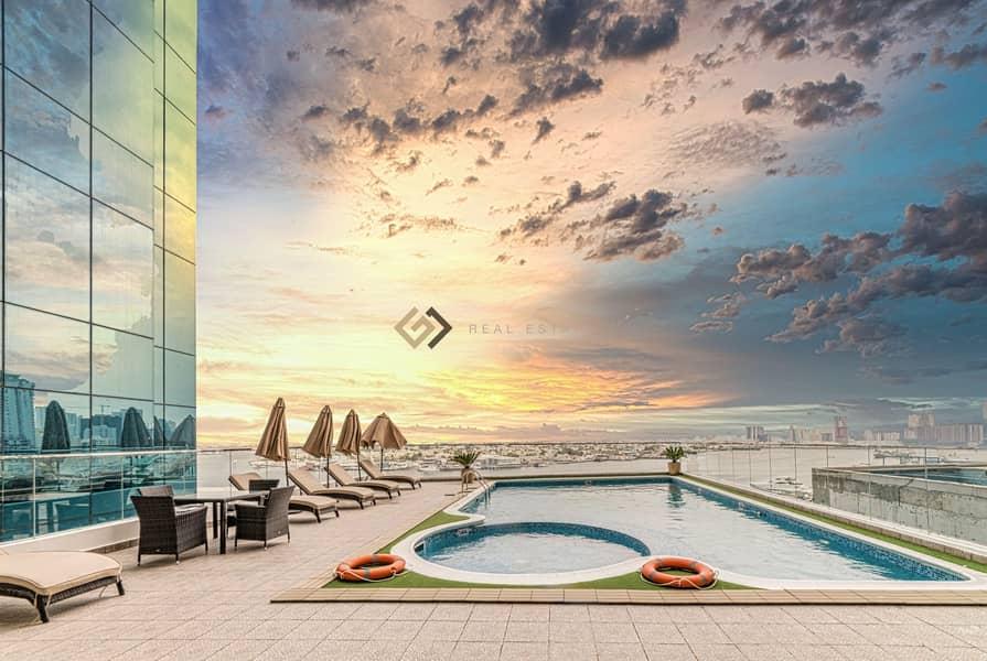 36 2 Bedroom Luxury Apartment with Creek View Ajman