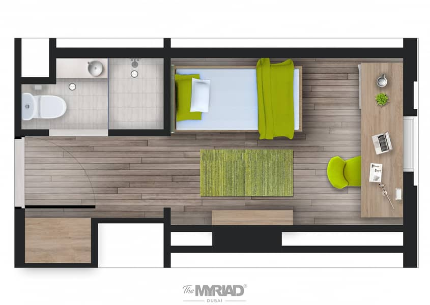 Student Accommodation | 'Single Room' - Female Block | The Myriad Dubai