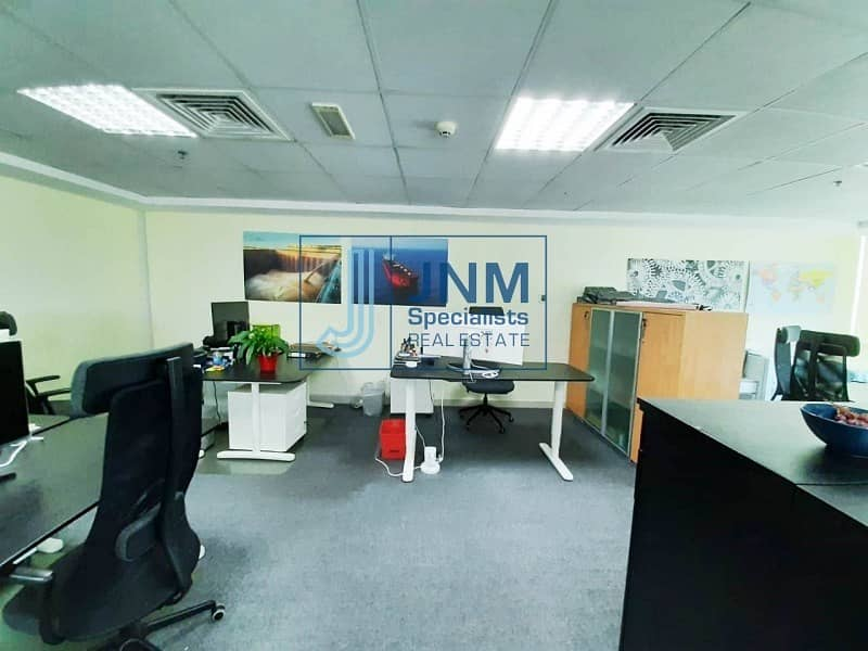 2 Fitted Office | Close to JLT Metro | High Flor