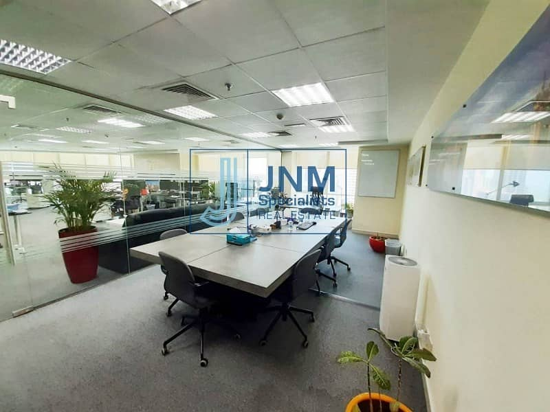 14 Fitted Office | Close to JLT Metro | High Flor