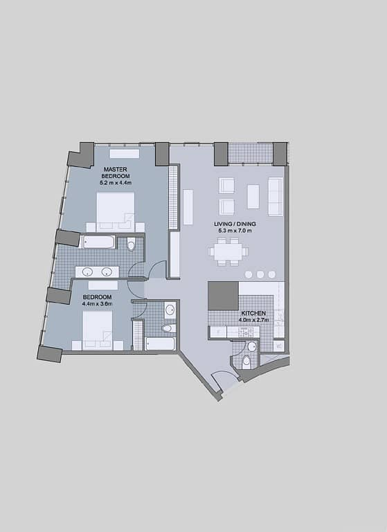 13 Two Bedrooms | Corner Unit | Vacant Soon