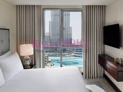 1 Bedroom Hotel Apartment for Rent in Downtown Dubai, Dubai - All Bills Inclusive|High Floor Fully Furnished 1BR
