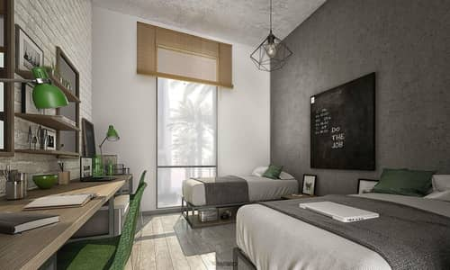 استوديو  للايجار في المدينة الأكاديمية، دبي - Student Accommodation | Double Room - Male Block | The Myriad Dubai