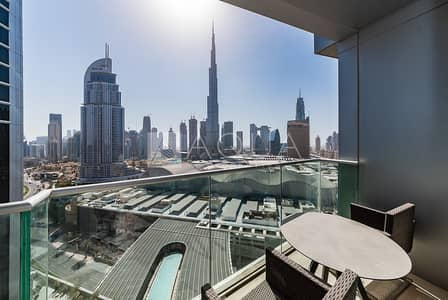 1 Bedroom Hotel Apartment for Rent in Downtown Dubai, Dubai - Stunning Burj Khalifa View | Fully Furnished