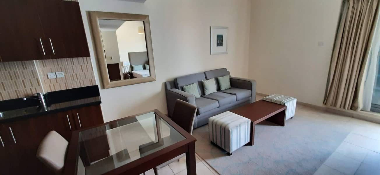Large Fully Furnished Studio Apartment  with Balcony for rent