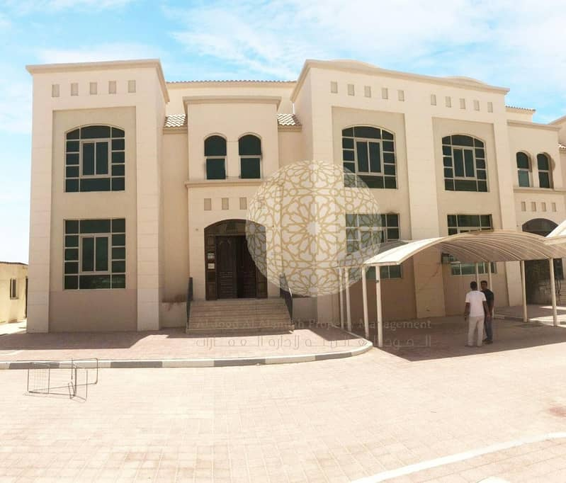 PERFECTLY MADE 5 BEDROOM COMPOUND VILLA WITH SWIMMING POOL AND MAID ROOM FOR RENT IN KHALIFA CITY A