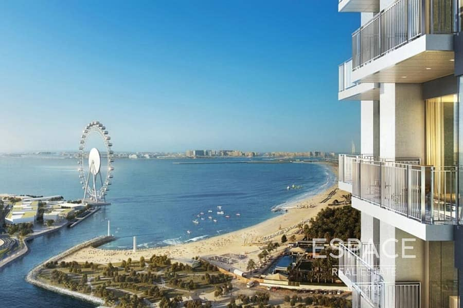 Full Sea View | 1806 sqft | 3 Bed Plus Maids