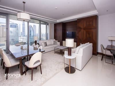 3 Bedroom Hotel Apartment for Rent in Downtown Dubai, Dubai - Fully Furnished with Burj Khalifa Views