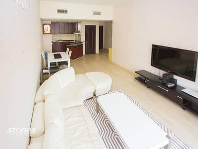 فلیٹ 1 غرفة نوم للبيع في ديسكفري جاردنز، دبي - Community View with Elegantly Furnished Unit