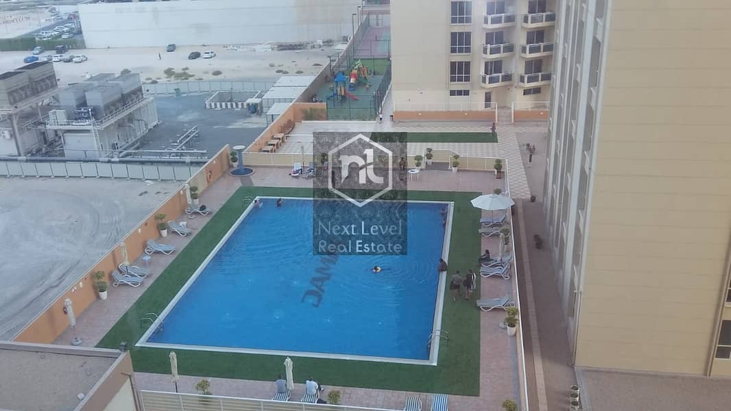 20 1583 per month studio in lakeside tower B in 1 to 12 cheques with balcony and parking