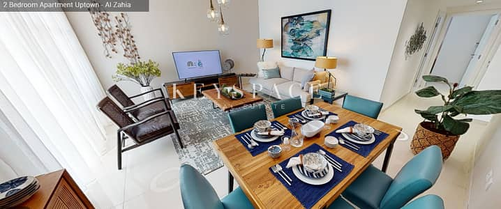 2 Bedroom Apartment for Sale in Muwaileh, Sharjah - Exclusive Offer 2-BR Apartment Uptown Al Zahia 