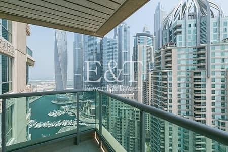فلیٹ 2 غرفة نوم للبيع في دبي مارينا، دبي - Upgraded and Vacant on High Floor with Marina View