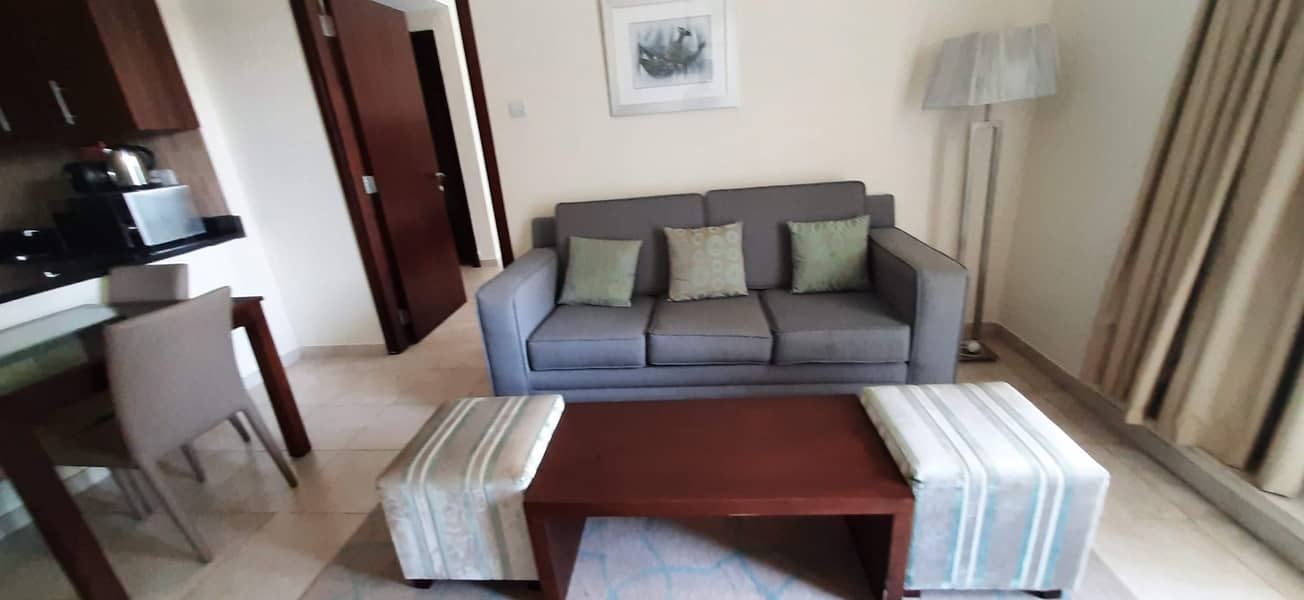 2 Spacious Fully Furnished 1 BHK apartment with pool view