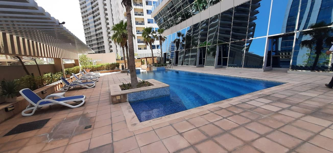 10 Spacious Fully Furnished 1 BHK apartment with pool view