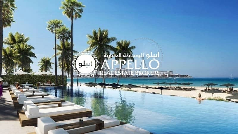 Live by the beach at JBR with Sea and Palm View