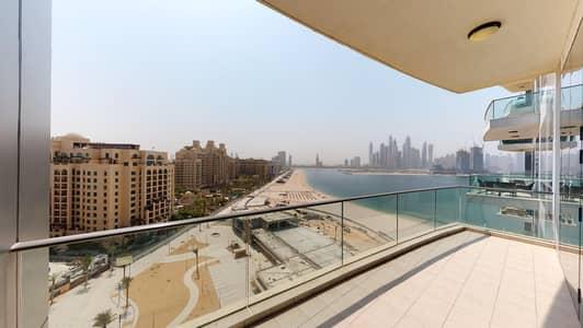 فلیٹ 3 غرف نوم للايجار في نخلة جميرا، دبي - Sea views | Furnished | Visit with your phone