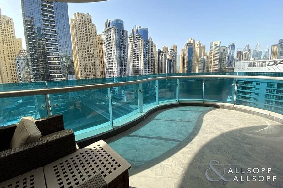 2 Huge Terrace Balcony | Full Marina Views