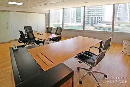 Office for Rent in Jumeirah Lake Towers (JLT), Dubai - Fully Fitted |Partitioned Office| Almas View