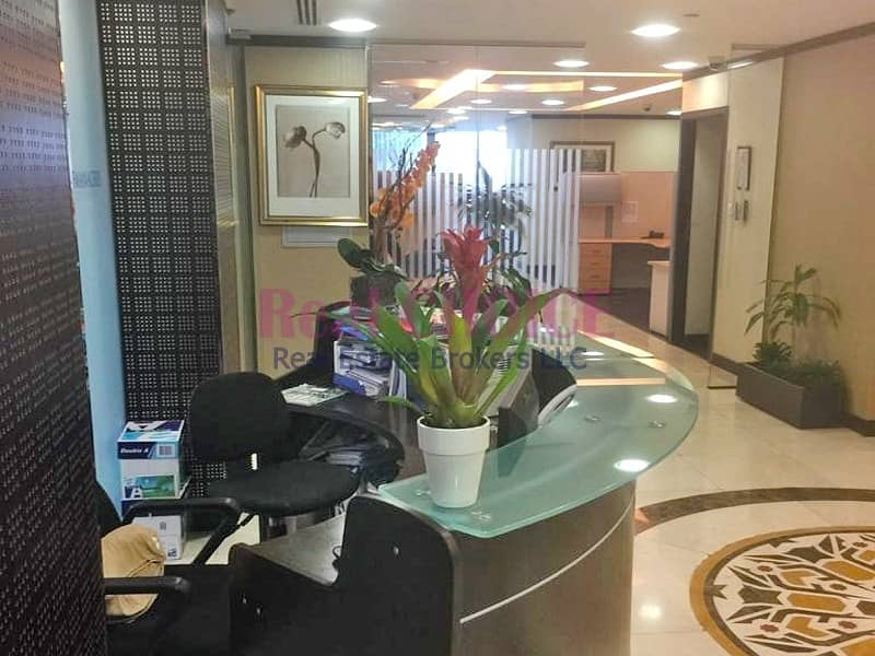 13 Fully Furnished|Combined 3 Offices|On Low Floor