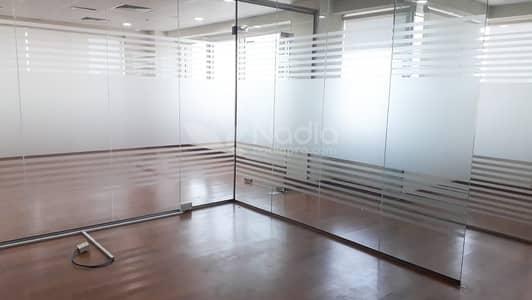 مکتب  للايجار في شارع الشيخ زايد، دبي - SZR -Prime Location  | Office - Fully Glass Partitioned