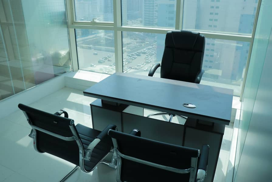 SEPARATE FURNISHED OFFICE|FREE DEWA|FREE INTERNET|NO DEPOSIT|NO COMMISSION