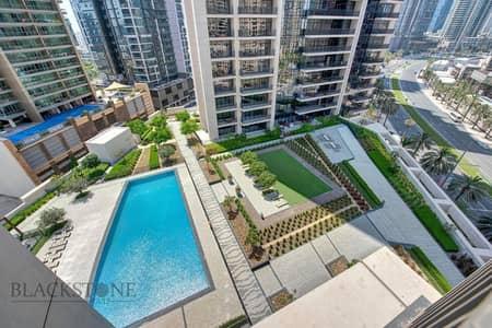 شقة 2 غرفة نوم للايجار في وسط مدينة دبي، دبي - Fully Furnished 2 BR + Study | Pool View | Chiller Free